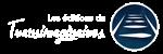 Logo des éditions du Transimaginaires Blanc 2020