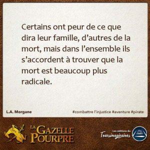 La Gazelle Pourpre, L.A. Morgane, citation