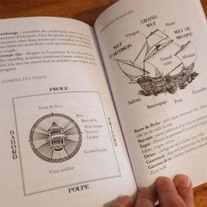 Photographie du roman d'aventure pirate La Gazelle Pourpre par L.A. Morgane